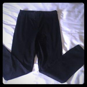 NWOT Zara Black Suede leggings. Ankle. Xsmall
